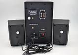 Мощные колонки для пк + сабвуфер 2.1 AiLiang USBFM-F32DC-DT (2x3 Вт + 10 Вт), фото 2