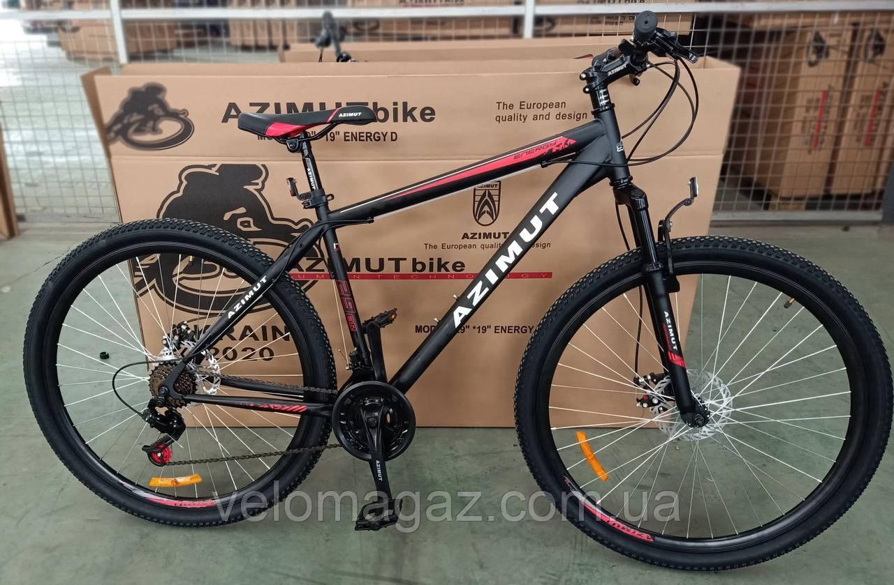 """Велосипед горный азимут  Energy 26"""" GFRD 21"""" рама, черно-красный"""