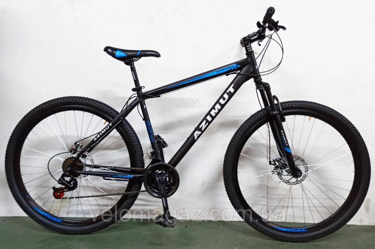 """Велосипед горный Azimut  """"Energy"""" 29"""" рама 19"""" GFRD черно-синий"""