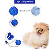 Многофункциональная игрушка для собак канат на присоске с мячом, фото 6