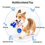 Многофункциональная игрушка для собак канат на присоске с мячом, фото 8