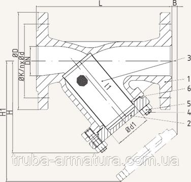 Фильтр сетчатый фланцевый ARI-STRAINER 12.050 DN 40, фото 2