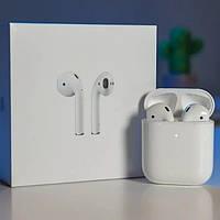 Наушники Apple AirPods 2, блютус Гарнитура, беспроводные наушники КОПИЯ 1:1, Видео обзор, + подарок