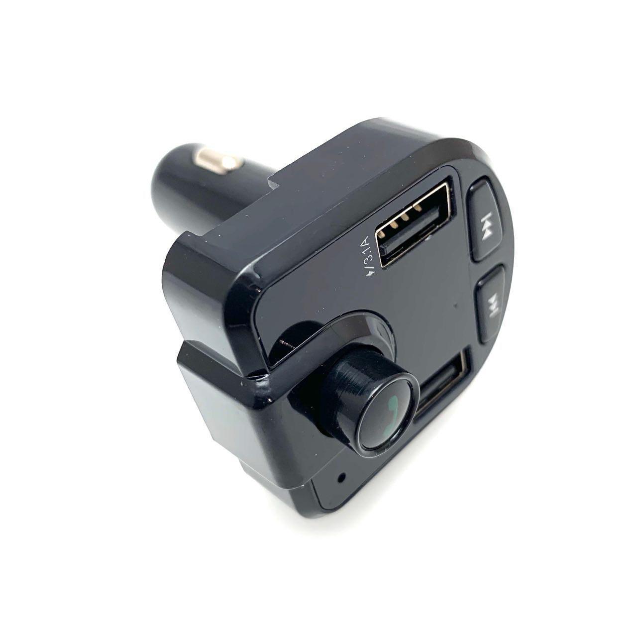 Автомобильный фм модулятор  A2ВТ с дисплеем / фм трансмиттер с 2 usb, mp3