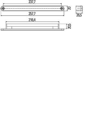 Дневные ходовые огни Hella 2PT 980 680-801, фото 2