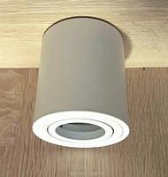 Потолочный светильник цилиндр Feron ML302 MR16 GU10 точечный поворотный накладной спот Белый