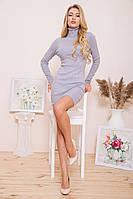 Платье-гольф 129R8681-1 цвет Серый