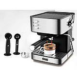 Кофемашина полуавтомат DSP Espresso Coffee Maker KA3028 с капучинатором, фото 2