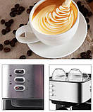 Кофемашина полуавтомат DSP Espresso Coffee Maker KA3028 с капучинатором, фото 5