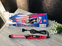 Плойка-выпрямитель для волос 2 в 1 Domotec Ms-4982, Плойка-утюжок для волос