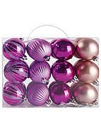 Набор елочных игрушек Melinera 24 шт разноцветные
