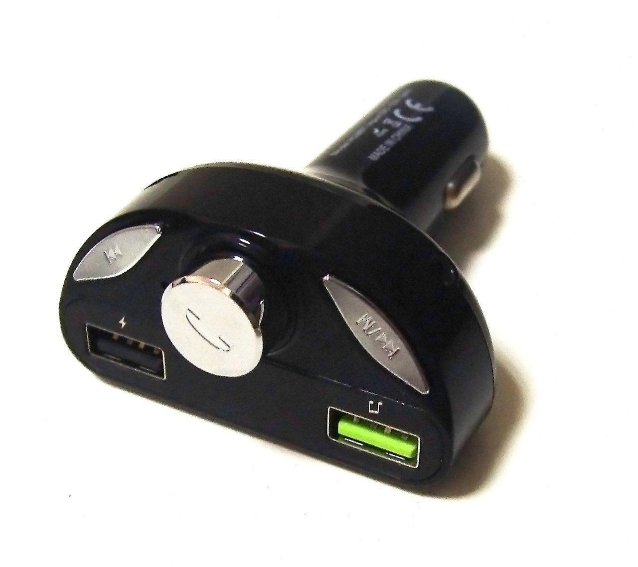 Трансмиттер / фм модулятор / Автомобильный трансмиттер H28BT Блютуз, 2 usb