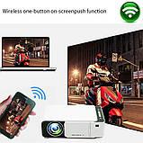 Проектор Everycom LED T5 WiFi 2600 люмен, домашний WiFi видеопроектор, фото 10