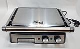 Гриль электрический DSP KB1036 профессиональный с функцией контроля температуры [2000 ВТ], фото 3