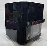Духовка мини многофункциональная , фритюрница электрическая Air Fryer DSP KB-2030, 12L 1700W, фото 2