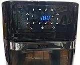 Духовка мини многофункциональная , фритюрница электрическая Air Fryer DSP KB-2030, 12L 1700W, фото 3