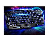 Профессиональная игровая радио клавиатура с подсветкой М200, фото 3