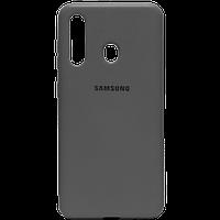 Силикон Original Silicone Case Samsung A11 / M11 HQ серый
