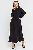 ✔️Модное женское платье миди штапельное 42-56 размера черное