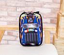 Детский рюкзак для мальчика от 3 лет для садика жесткий 3D Тачки автомобиль, фото 4
