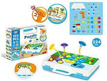 Детский развивающий STEM-конструктор TLH Puzzle Peg, 224 детали