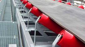 Стрічковий транспортер желобчастый для сипучих вантажів