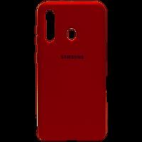 Силикон Original Silicone Case Samsung A41 HQ красный