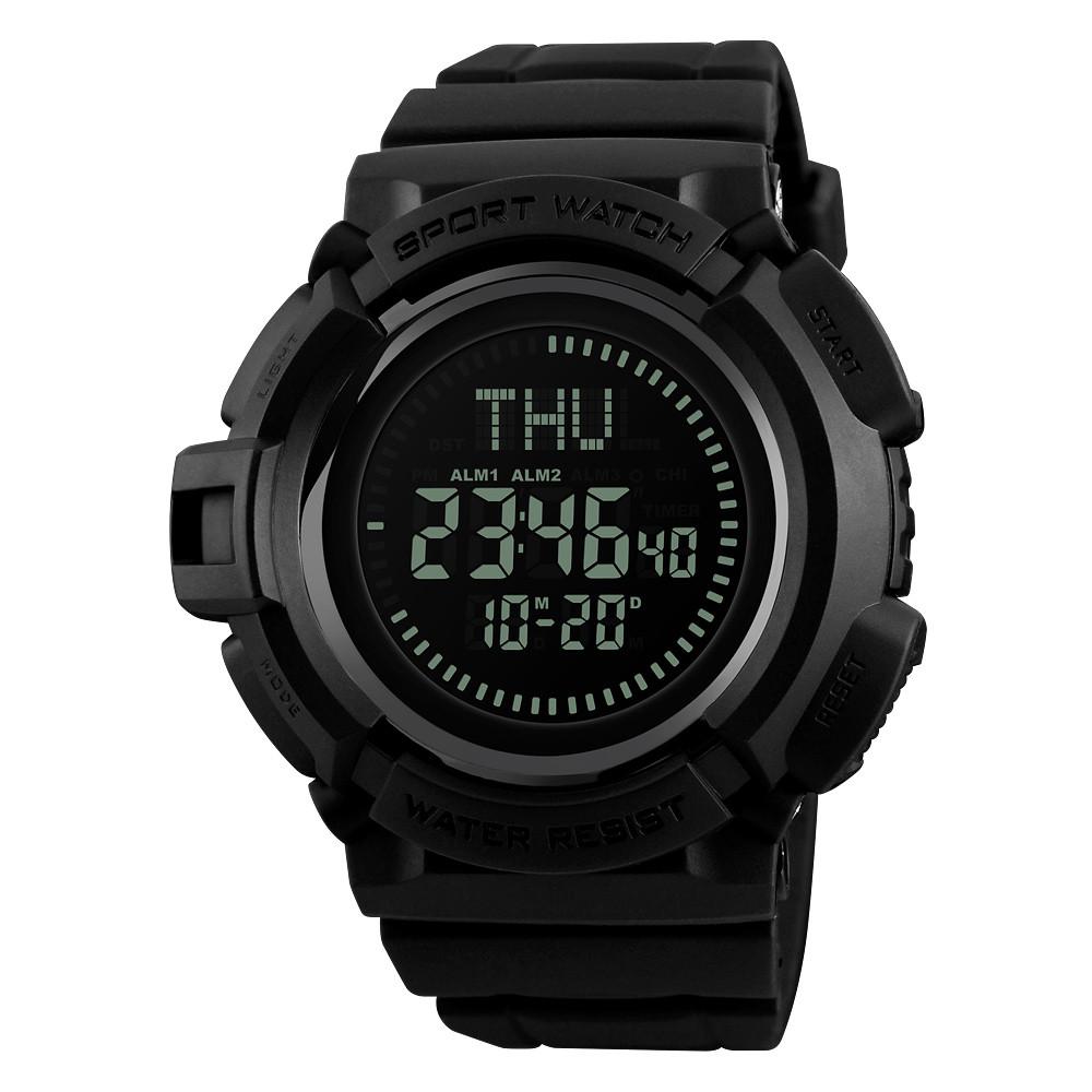 Skmei 1300 Черные мужские спортивные часы