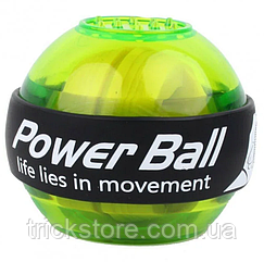 Тренажер для зап'ястя гіроскопічний кистьовий еспандер куля Power Ball еспандер круглий пружинний для чоловіків
