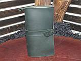 Кожаный тёмно-зеленый блокнот,  гравировка и подарочная коробка в подарок!, фото 3
