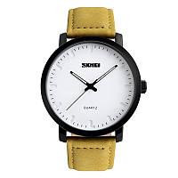Skmei  1196  Желтые мужские классические  часы, фото 1