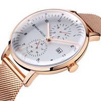 Красивые мужские часы кварцевые Mini Focus MF0052G.01 Cuprum-White оригинал