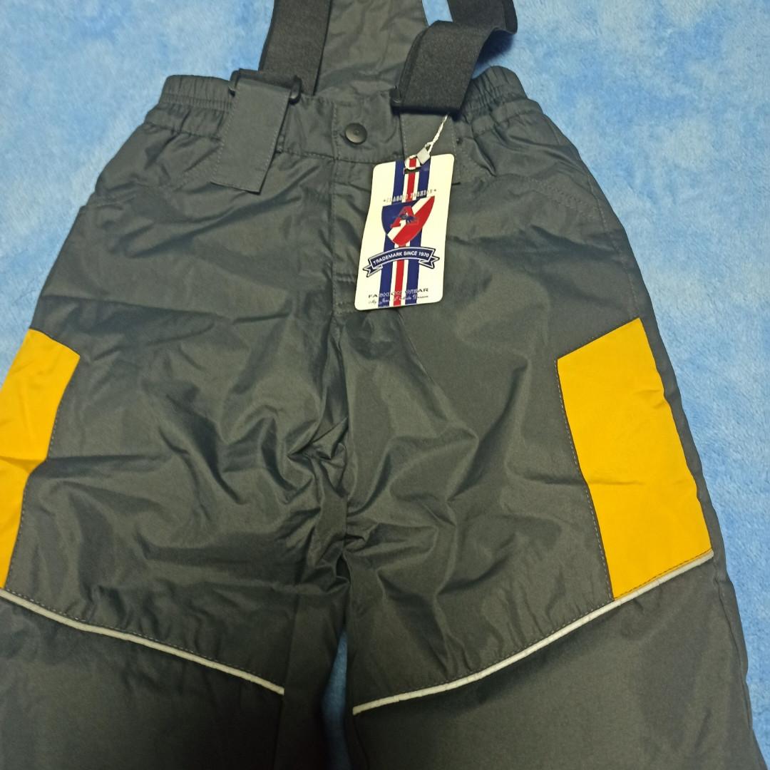 Термо штани теплі модні практичні сірого кольору з отстежными підтяжками для хлопчика.