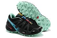 Кроссовки женские беговые Salomon Speedcross (саломон) черные