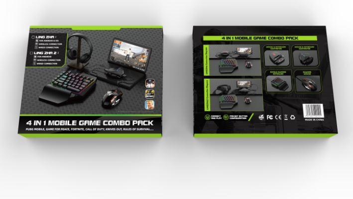PUBG мобильный игровой Bluetooth адаптер с игровой клавиатурой и мышкой Union PUBG Mobile G6