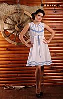 Вышитое женское платье на лето, размер 44