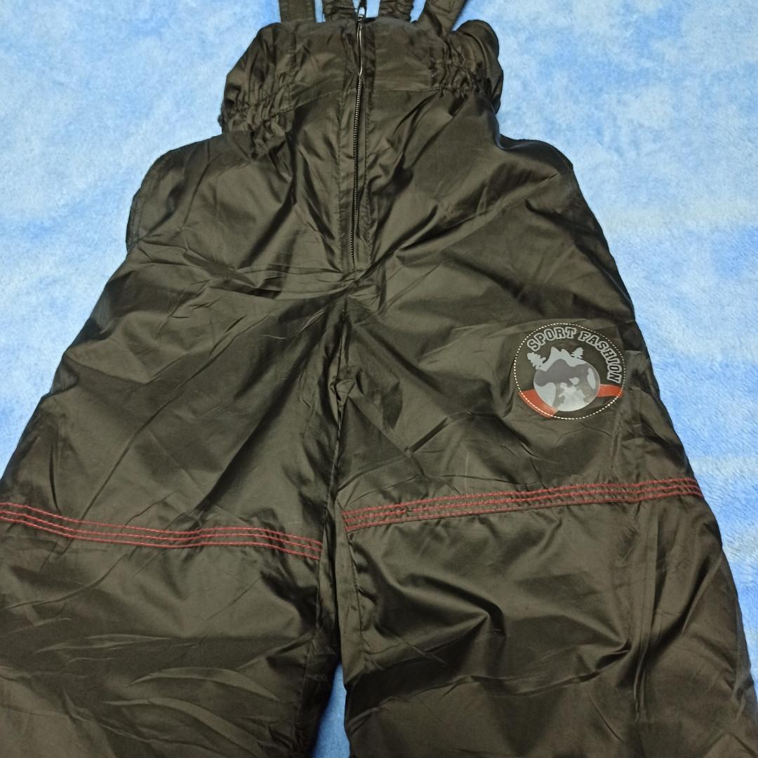 Термо штаны теплые практичные  чёрного цвета для мальчика.