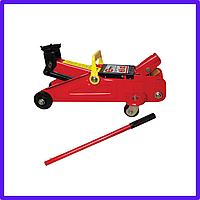 Домкрат гідравлічний підкатний 2т, Домкрат підкатний у валізі, висота підйому 135-385 мм INTERTOOL GT0109