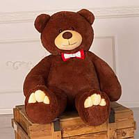 Бурый плюшевый мишка Мистер Медведь 130 см большая мягкая игрушка на день рождения