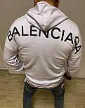 😜 худи - мужская худи BALENCIAGA белая /  чоловіча худі BALENCIAGA біла, фото 2