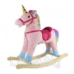 Детская качалка лошадка-единорог