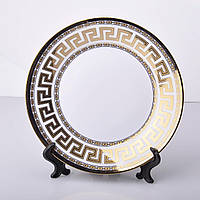 Тарелка белая D20 с греческим орнаментом