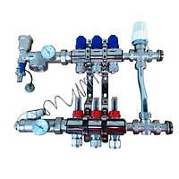 Коллектор для теплого пола в сборе с трехходовым клапаном на 3 контура, фото 1