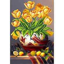 Канва для вышивки бисером цветы Тюльпаны Матренин Посад