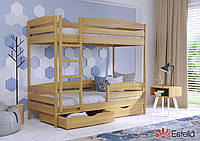 Двоярусне ліжко Дует Плюс 80х190 102 Масив h 181 2Л25