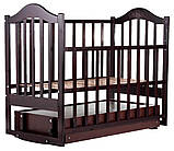 Кровать Babyroom Дина D303 маятник, ящик  венге, фото 3