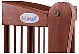 Кровать Babyroom Еліт резьба, маятник, откидной бок DER-6  бук тик, фото 6