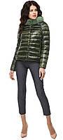 Куртка осенне-весенняя удобная женская цвет темный хаки модель 40267 (ОСТАЛСЯ ТОЛЬКО 52(XL))