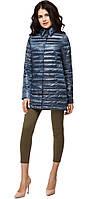 Женская куртка осенне-весенняя легкая цвет темная лазурь модель 41323
