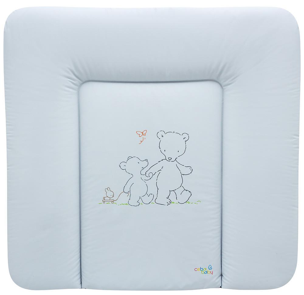 Пеленальный матрас Maltex мягкий 72х75 см  мишки, белый